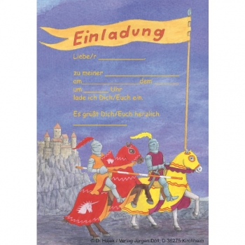 12 Ritter Einladungskarten