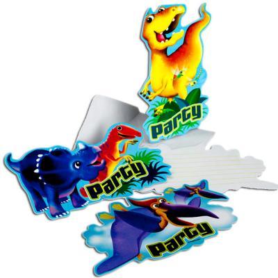 www.party-schatzkiste.de - 6 dino einladungskarten