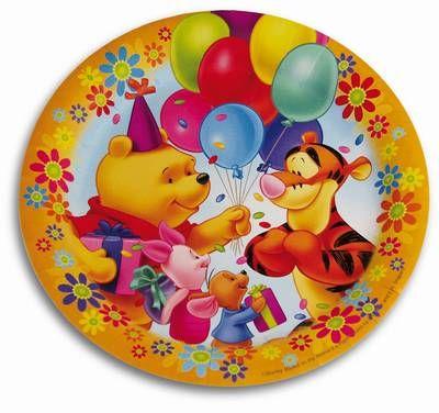 www.party-schatzkiste.de - Winnie Pooh Party Teller, Winnie Pooh ...
