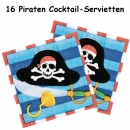 16 kleine Piraten Cocktail Servietten