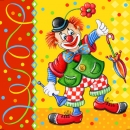 20 Clown Servietten