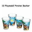 10 Playmobil Piraten Becher
