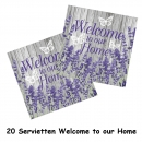 20 Servietten Welcome to our home